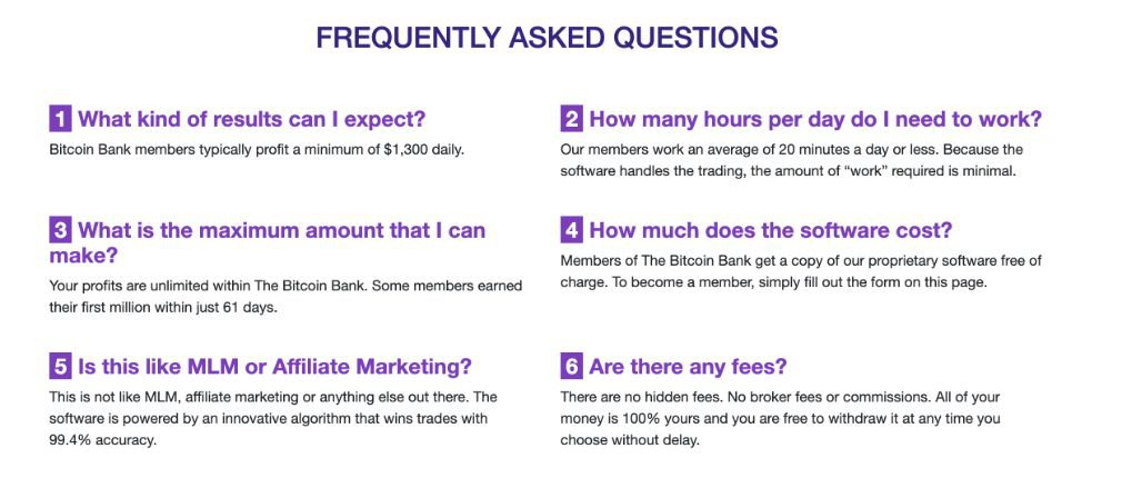 Bitcoin Bank FAQ