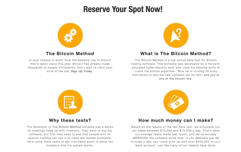 Bitcoin Method benefits