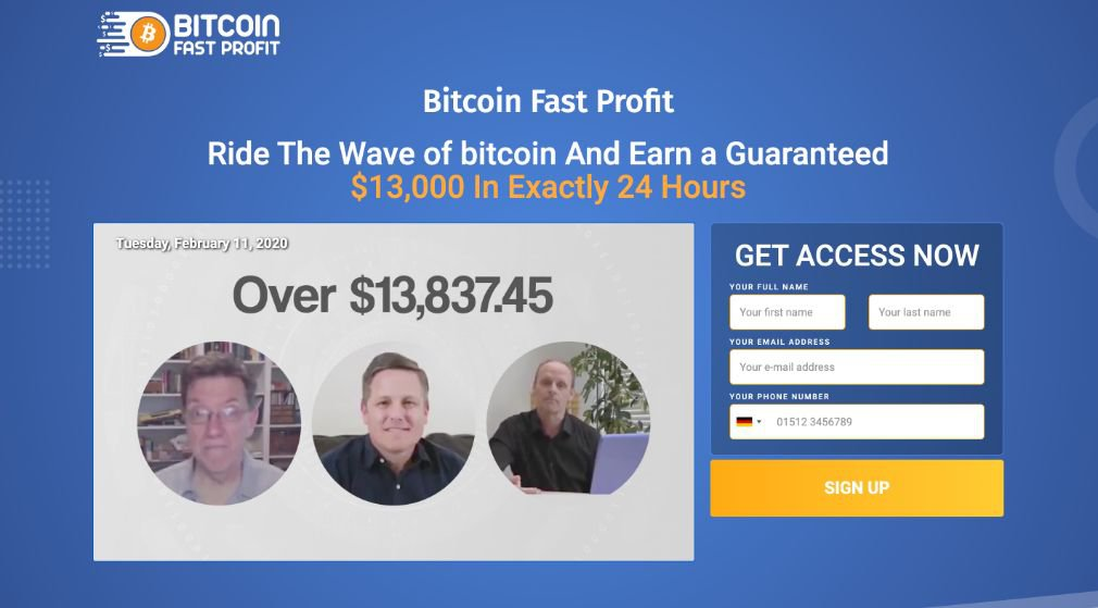 Bitcoin Fast Profit Review - Scam or is it legit?
