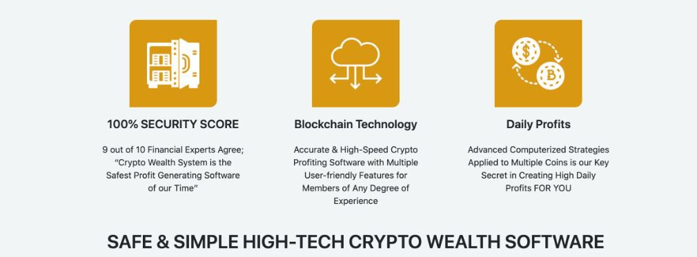 Crypto Wealth benefits