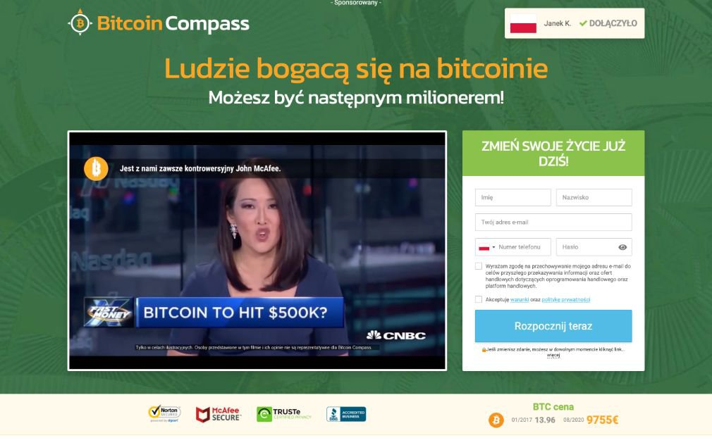 Bitcoin Compass Opinie