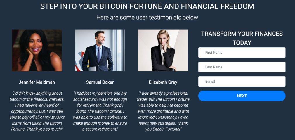 Bitcoin Fortune succès
