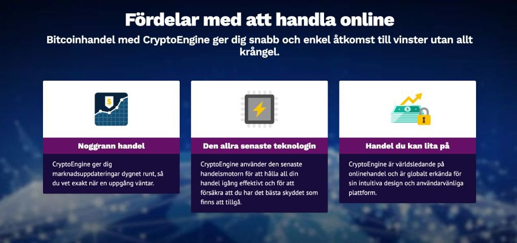 Crypto Engine fördel