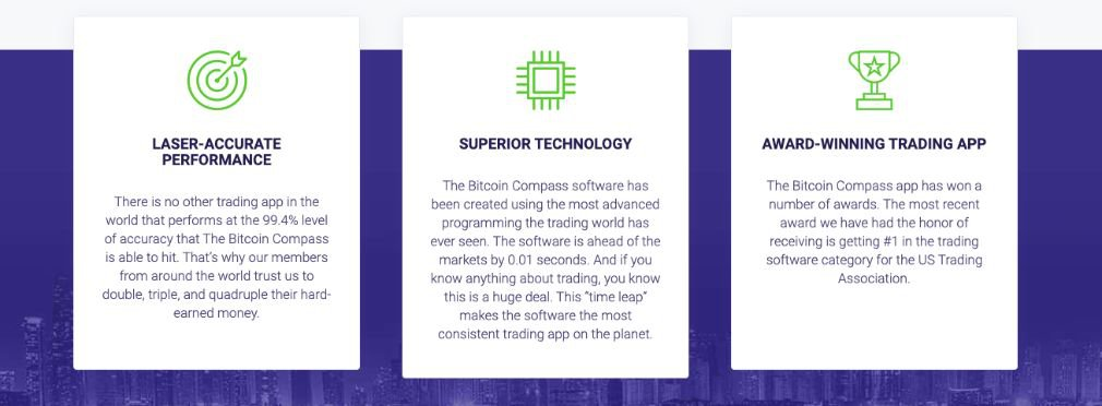 Bitcoin Compass benefício