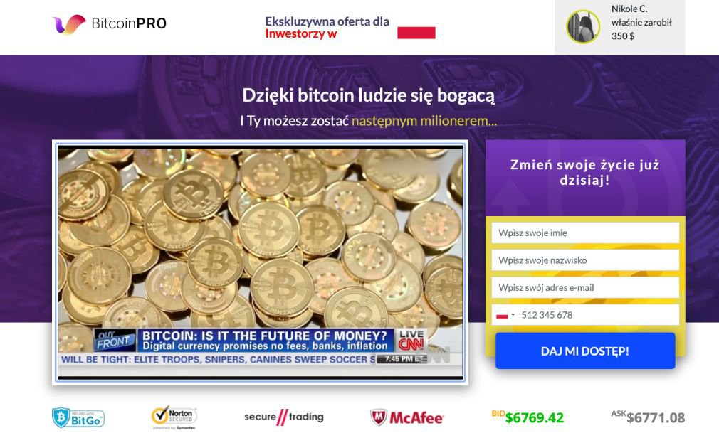 Bitcoin Pro Opinie