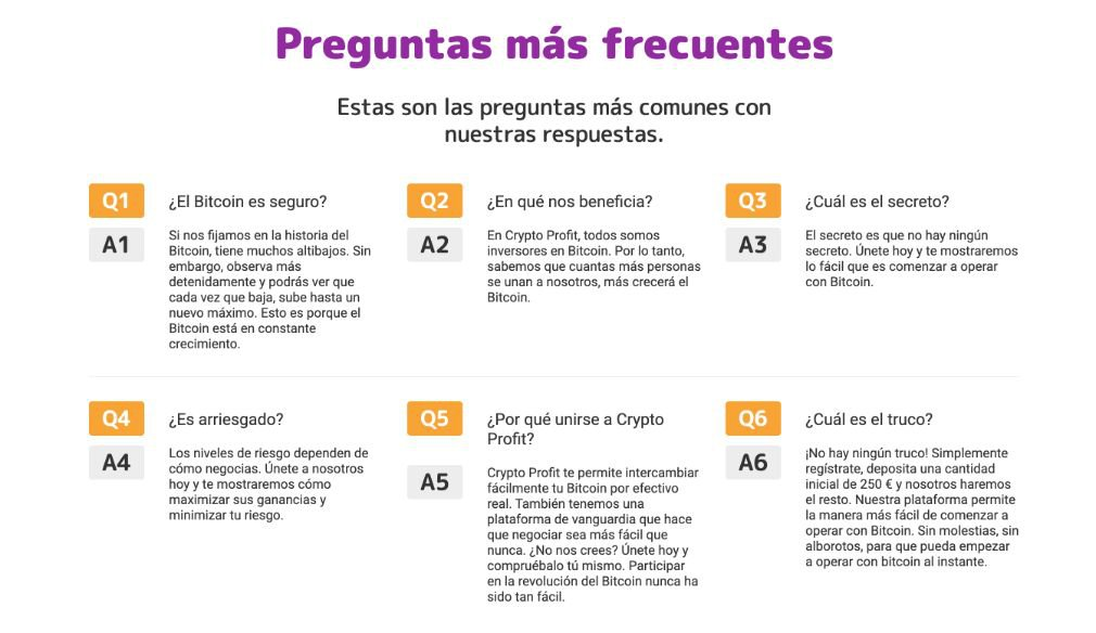 Crypto Profit preguntas frecuentes