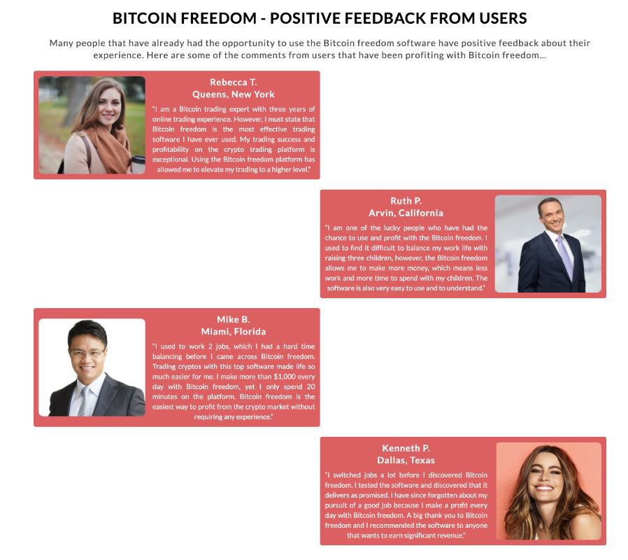 Bitcoin Freedom successo