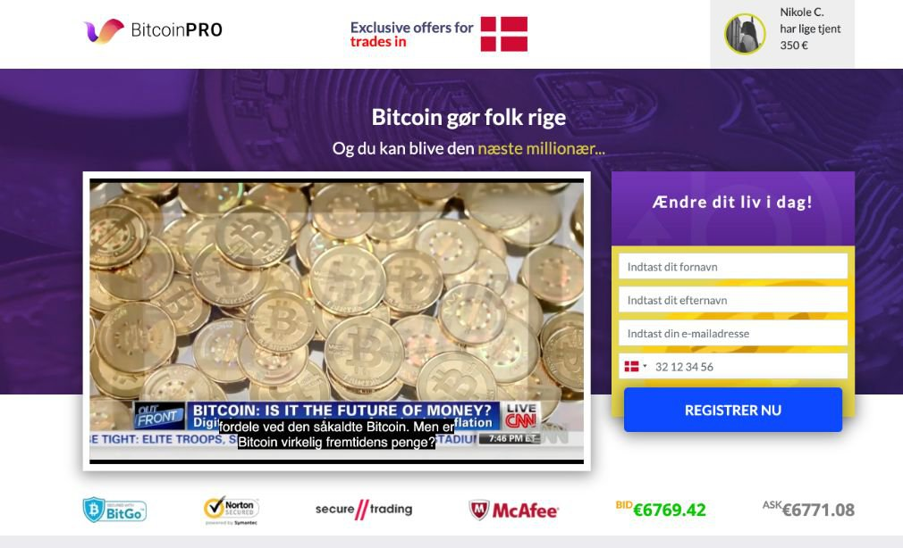 Bitcoin Pro Anmeldelse