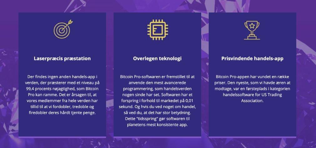 Bitcoin Pro fordel