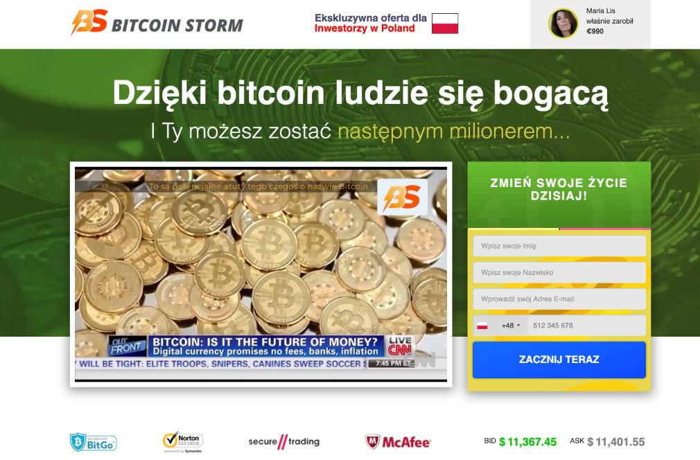 Bitcoin Storm Opinie