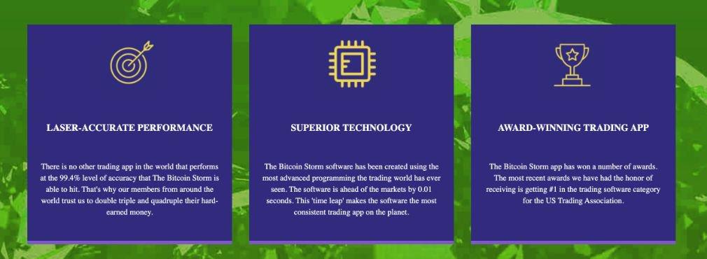 Bitcoin Storm benefits