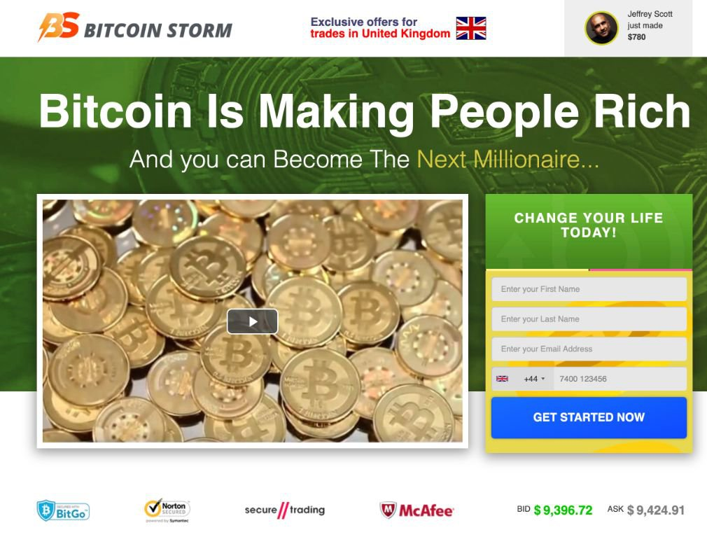 Bitcoin Storm Review