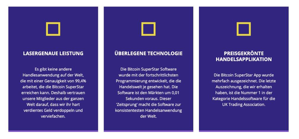 Bitcoin Superstar Vorteile