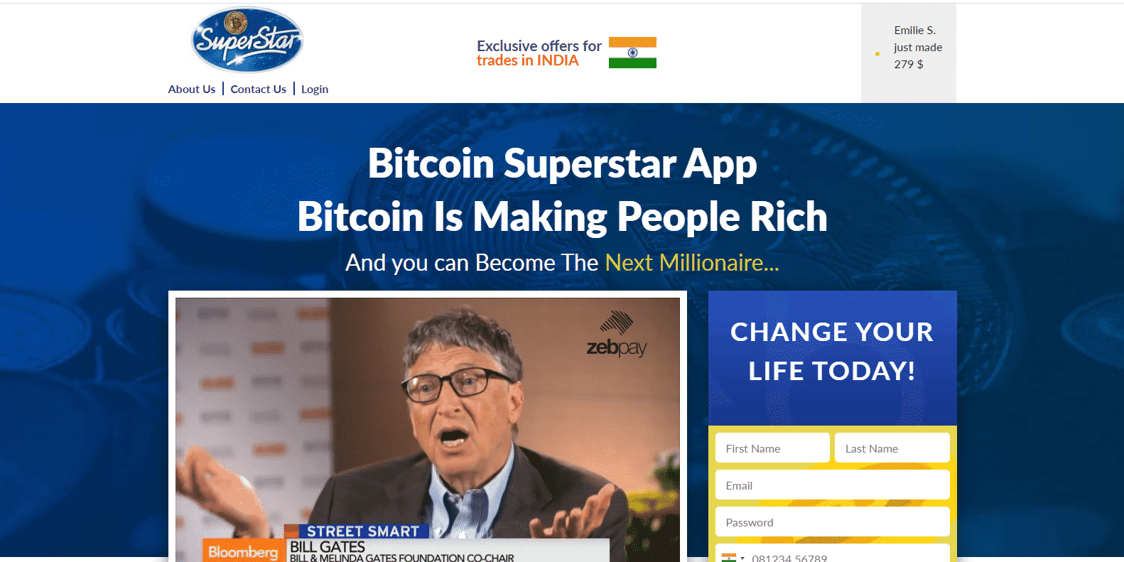 Bitcoin Superstar Handelsplattform